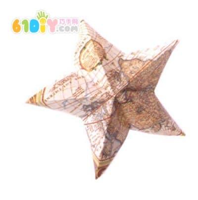 怎樣製作國慶節立體五角星