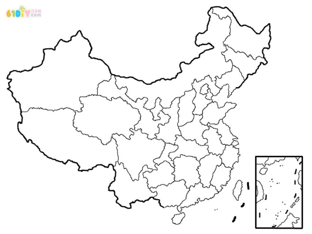 可以修改颜色的ppt中国地图素材,ppt素材--5