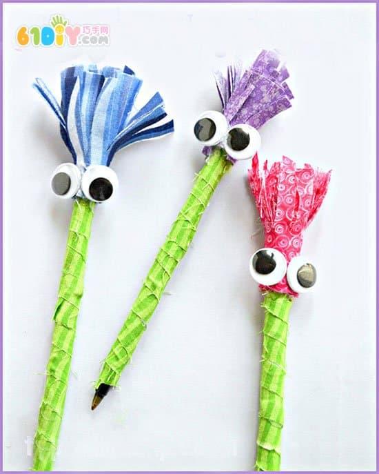 儿童手工制作大眼睛铅笔小人_综合其它_巧巧
