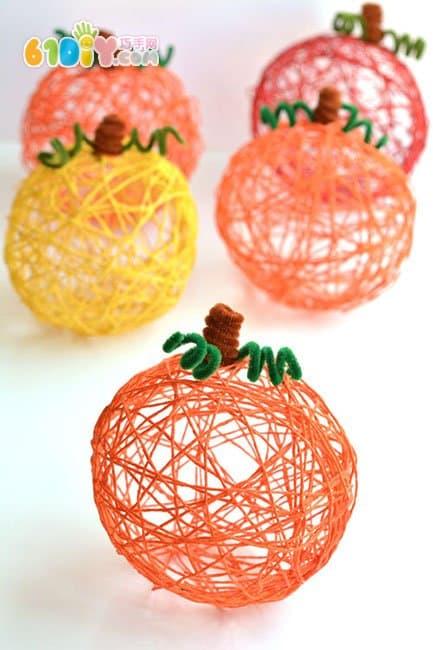 幼儿手工:利用气球手工制作万圣节装饰南瓜