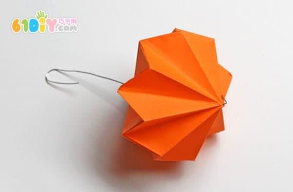 鑽石形新年小燈籠摺紙過程