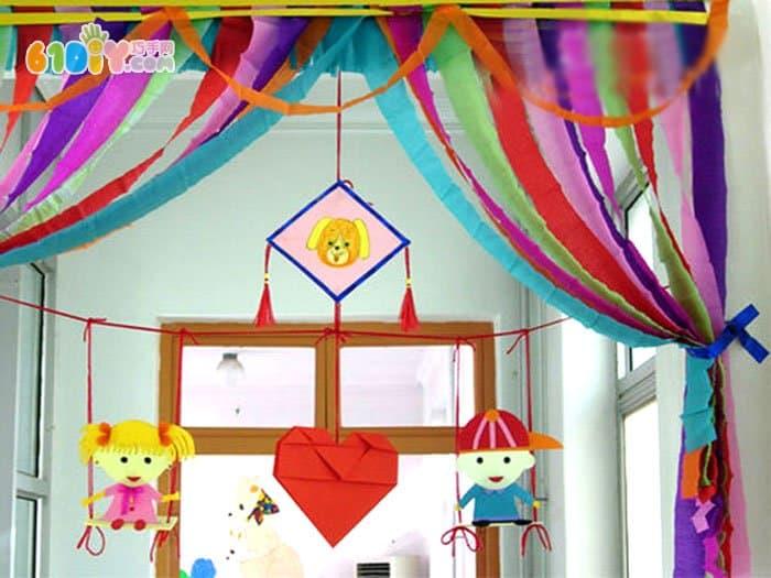 幼儿园装饰新年吊饰图片_吊饰_巧巧手幼儿手工网