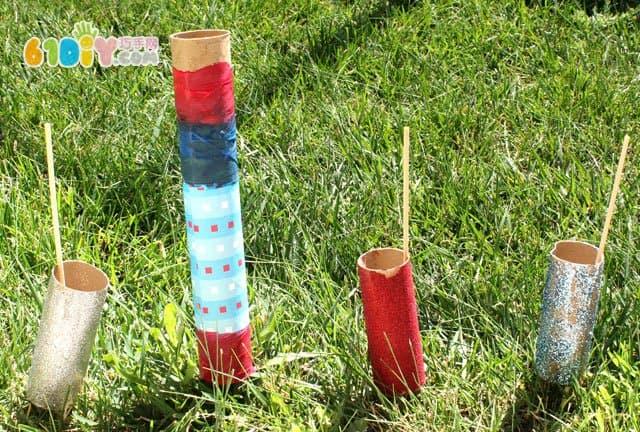 儿童手工制作新年火箭烟花