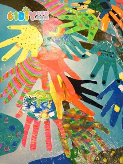 幼儿园装饰布置 美丽的手掌树