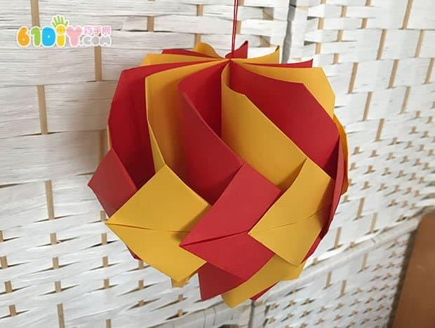 幼儿折纸手工:冰儿教你制作新年立体折纸灯笼