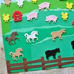 儿童撕纸制作农场贴画
