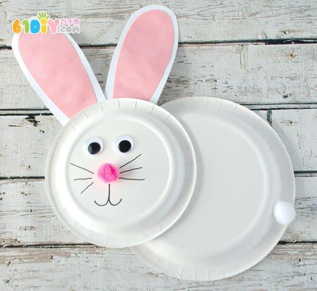 幼儿手工制作复活节纸盘小兔子