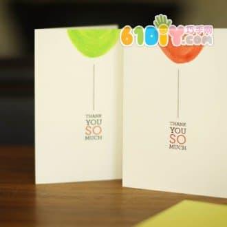 手绘气球生日贺卡图片