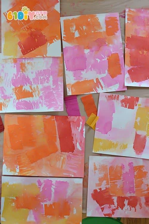 幼儿小手工 皱纹纸制作艺术画