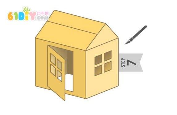 纸箱制作精美大房子
