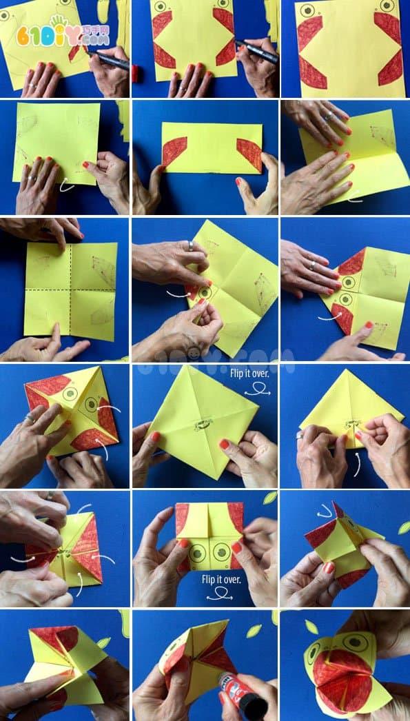 东南西北创意变变变小鸟_鸟折纸_巧巧手幼儿手工网