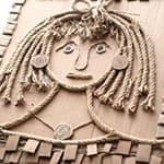 儿童创意贴画 绳子的艺术