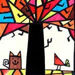 儿童m88明升绘画秋天的树