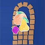 儿童创意废纸板手工拼贴 秋天的篮子