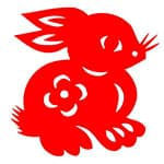 中秋节玉兔剪纸模板