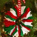 圣诞节手工 儿童DIY不织布圣诞花环