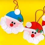 幼儿图形拼贴圣诞老人挂饰