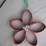 卷纸筒制作圣诞节装饰小花