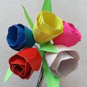 母亲节手工制作简单的不织布小花贺卡