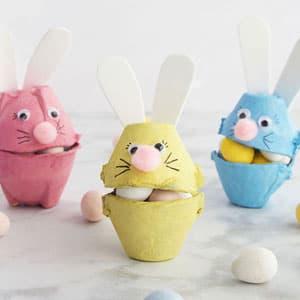 可爱的鸡蛋托兔子手工制作