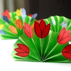 皱纹纸简单制作莲花手工