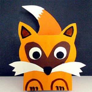 可爱的狐狸收纳盒手工制作