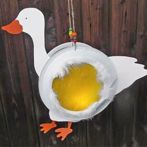 中秋节鸭子灯笼手工制作