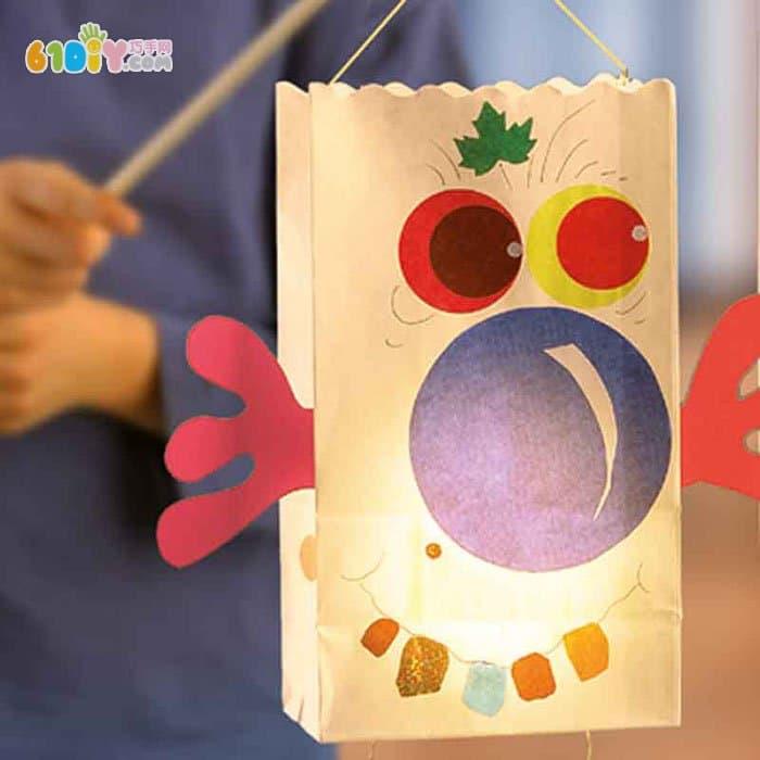 儿童手工制作纸袋灯笼