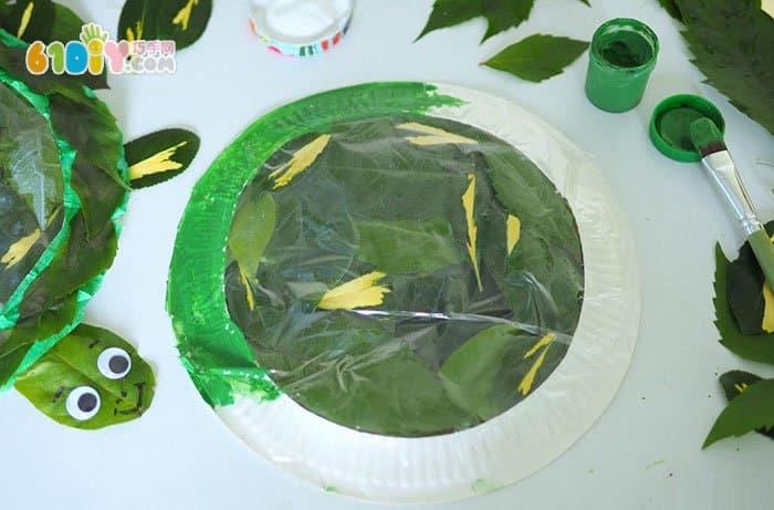 儿童手工制作漂亮的透明乌龟