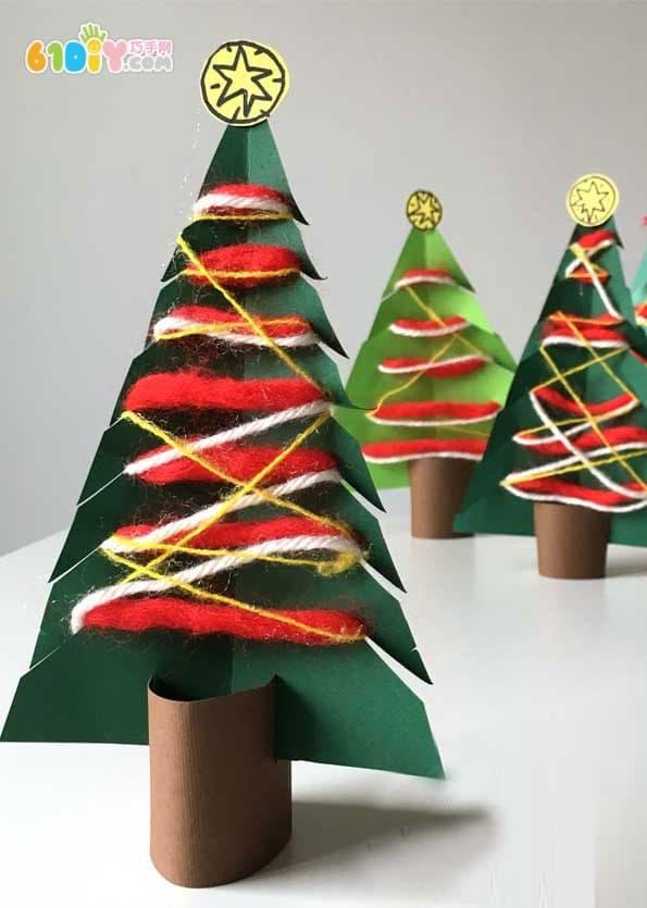 儿童手工制作卡纸圣诞树